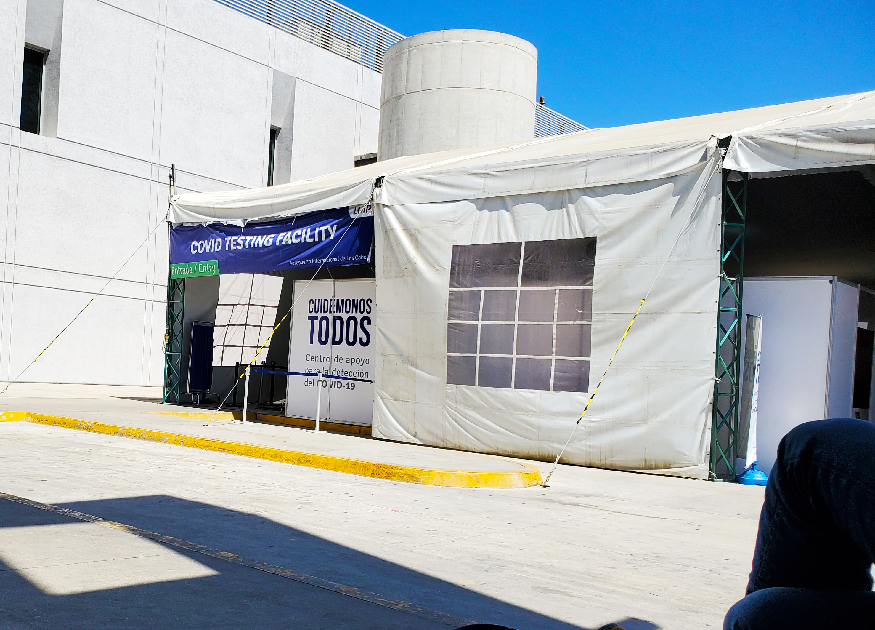 Covid test site at Cabo Airport copy